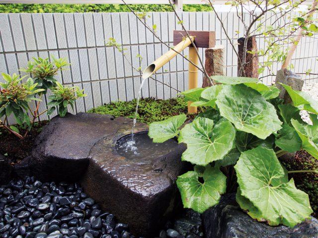 天然竹でつくる竹製カケヒで和の趣を