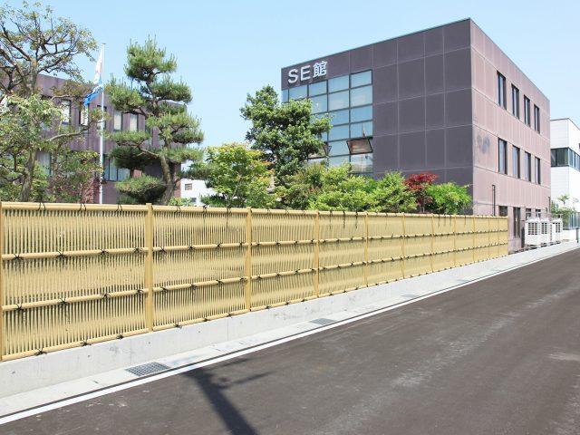 風の通り抜けも良い和の目かくしに。e-バンブーユニット こだわり竹 大津垣フェンス