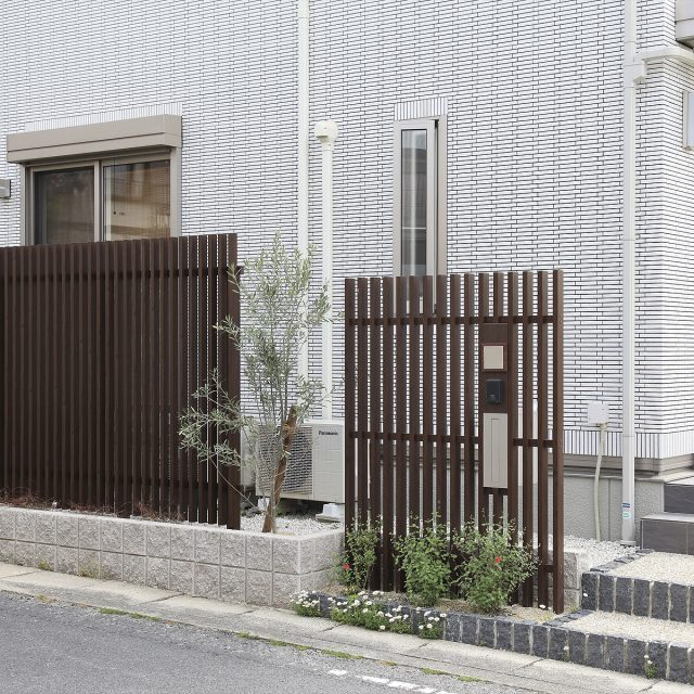 一体感のある門まわりのデザイン