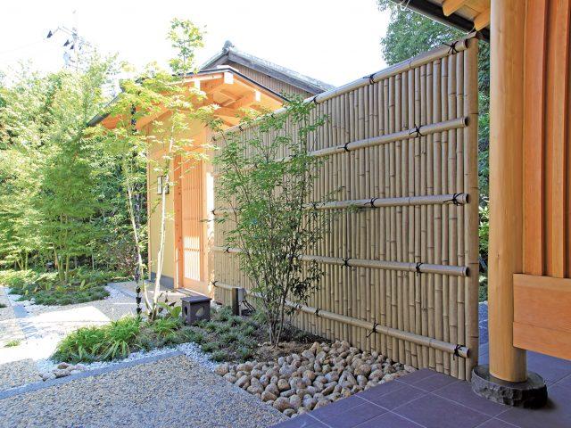 エバー18型古竹さらし竹を使用した現場