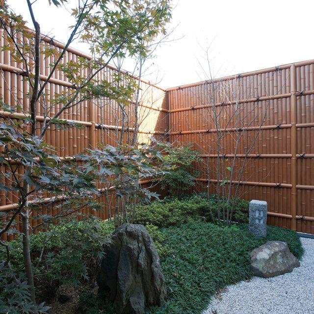 すす竹を使って落ち着いた雰囲気に