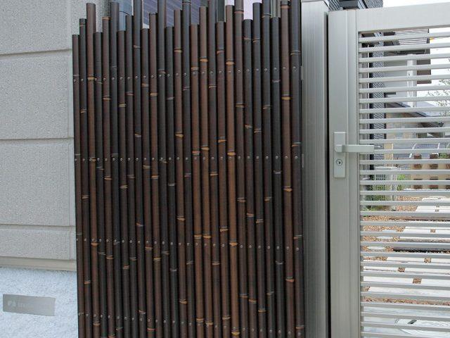 エコ虎竹を使って こだわりの創作和風フェンス