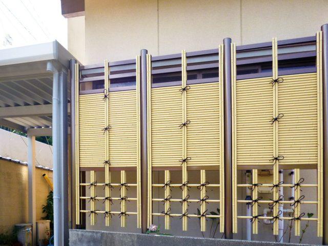 天然竹の情緒にこだわった「こだわりエコ竹」を使ったアート竹垣