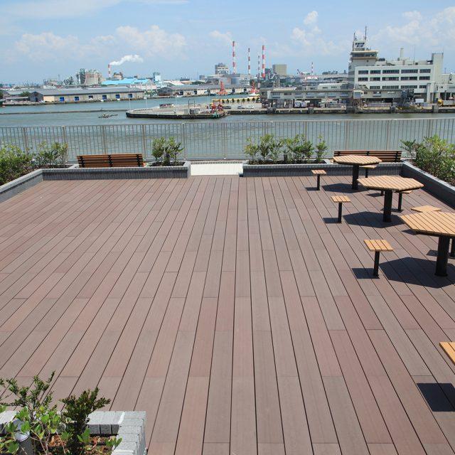 医療・福祉施設の屋上の風景
