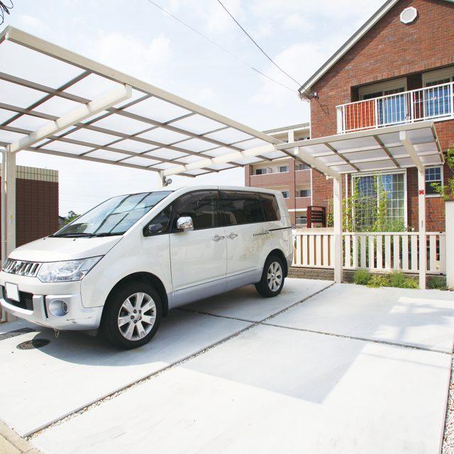 基本サイズのカーポート ワンボックスや大型車にも対応可能