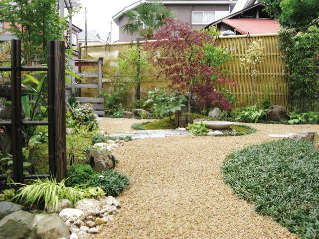 エコ竹大津垣で落ち着きのある上質な和風庭園に