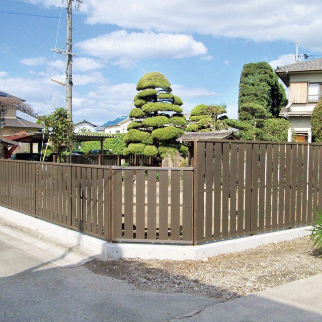 和の庭に合う創作フェンス