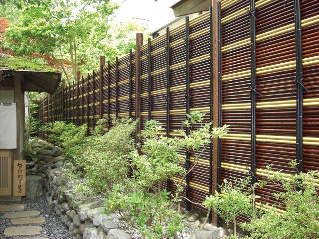 エコ竹みす垣5型を使用した宿泊施設