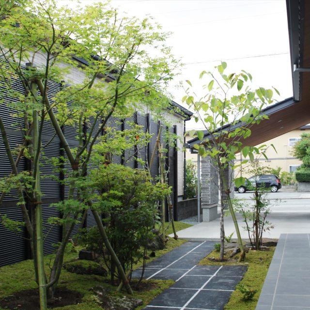 建物の雰囲気と調和した和モダン空間