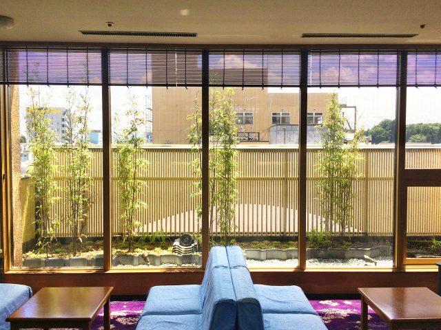 小屋根が付いたこだわりエコ竹の創作和風フェンス