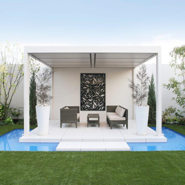 エバーアートボード/ホームヤードルーフ/デザインパネルを使用したデザイン的な空間