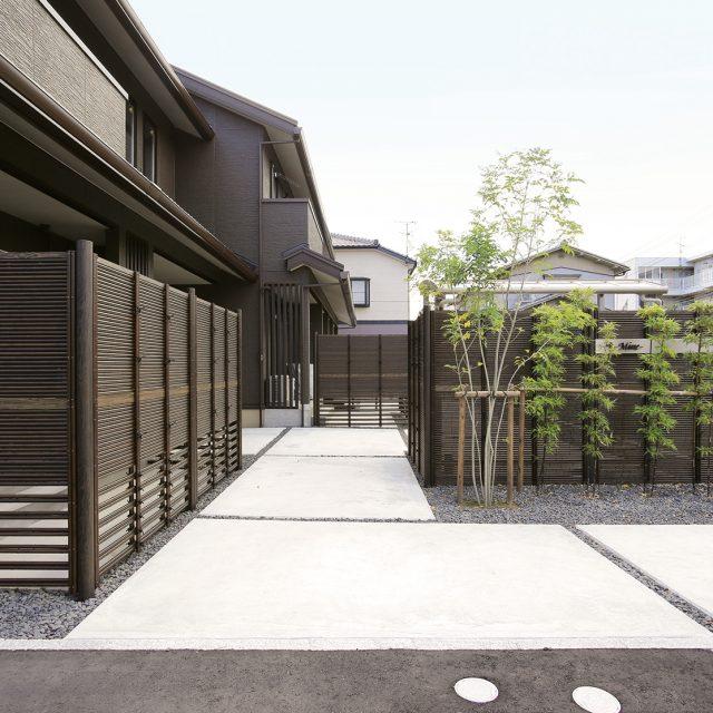 集合住宅にe-バンブーユニットみす垣を使用