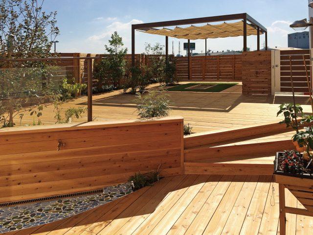 庭の中に楽しむための独立した空間を作る