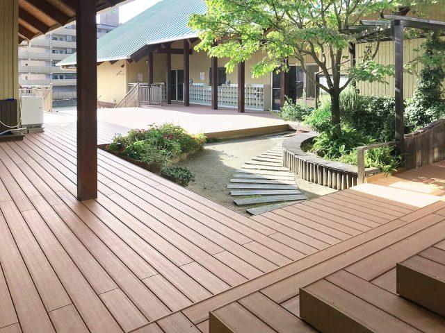 人工木材エバーエコウッドでつくるデッキスペース