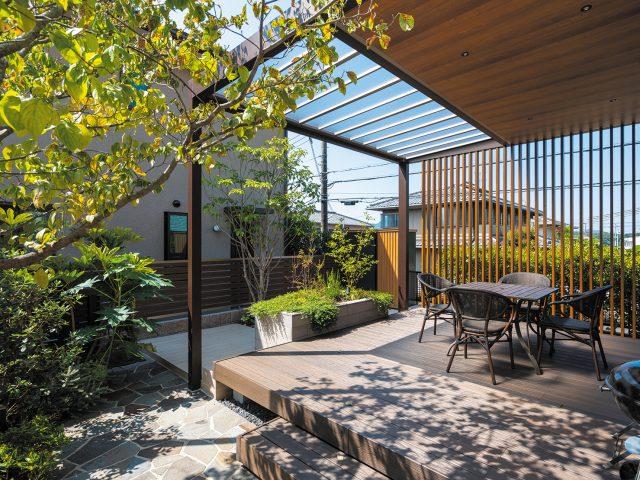 ホームヤードルーフを使って、お庭で家族と過ごせる空間をつくる