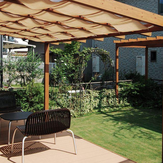 庭の中に、眺めたり、ガーデニングを楽しむための独立した空間を作る