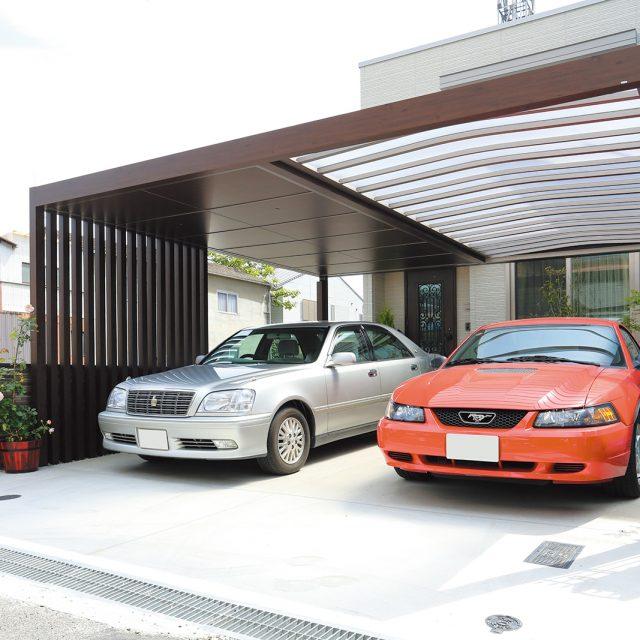 駐車場にデザイン性の高い空間を展開