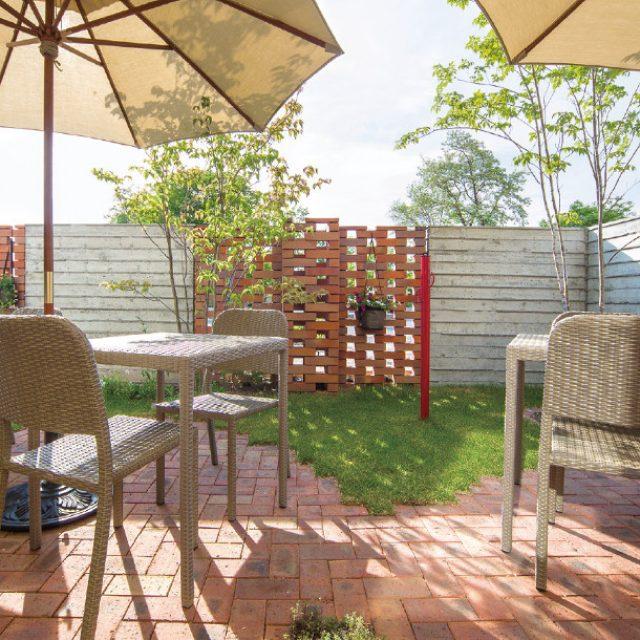庭座 シンプルスクエアテーブル 720/シンプルチェアー