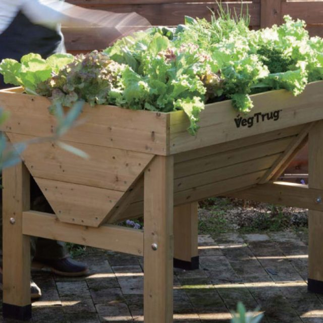 手が伸ばしやすく、作業がしやすい菜園