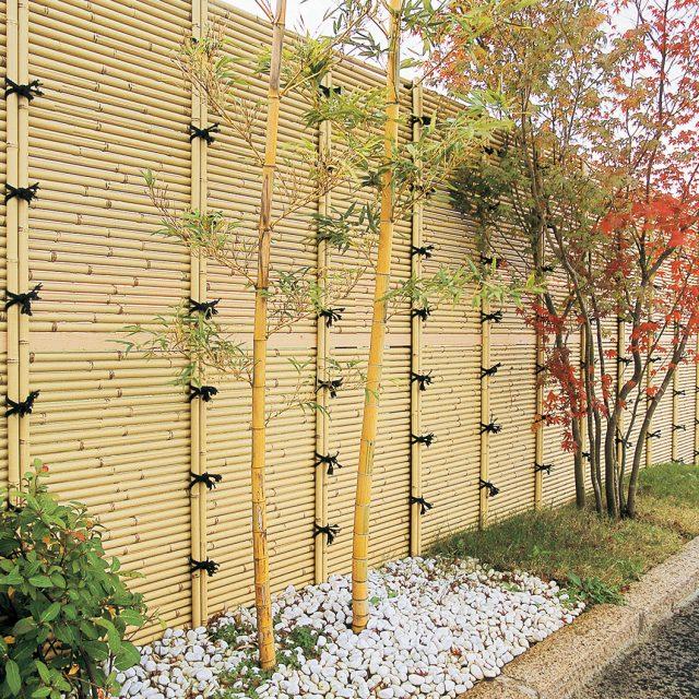こだわりエコ竹を使用した美しい現場