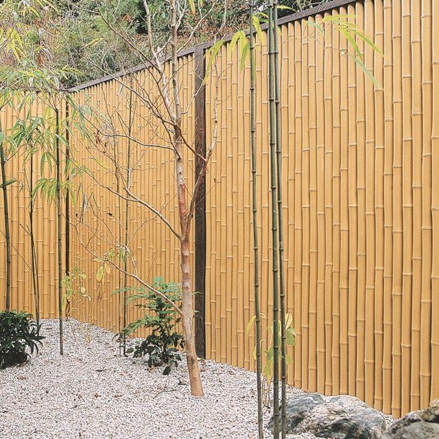 竹の表情が力強さを感じさせる和の庭