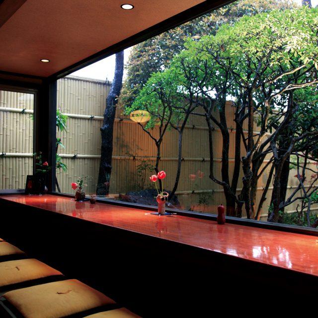 おもてなしの空間を演出するエバー趣さらし竹